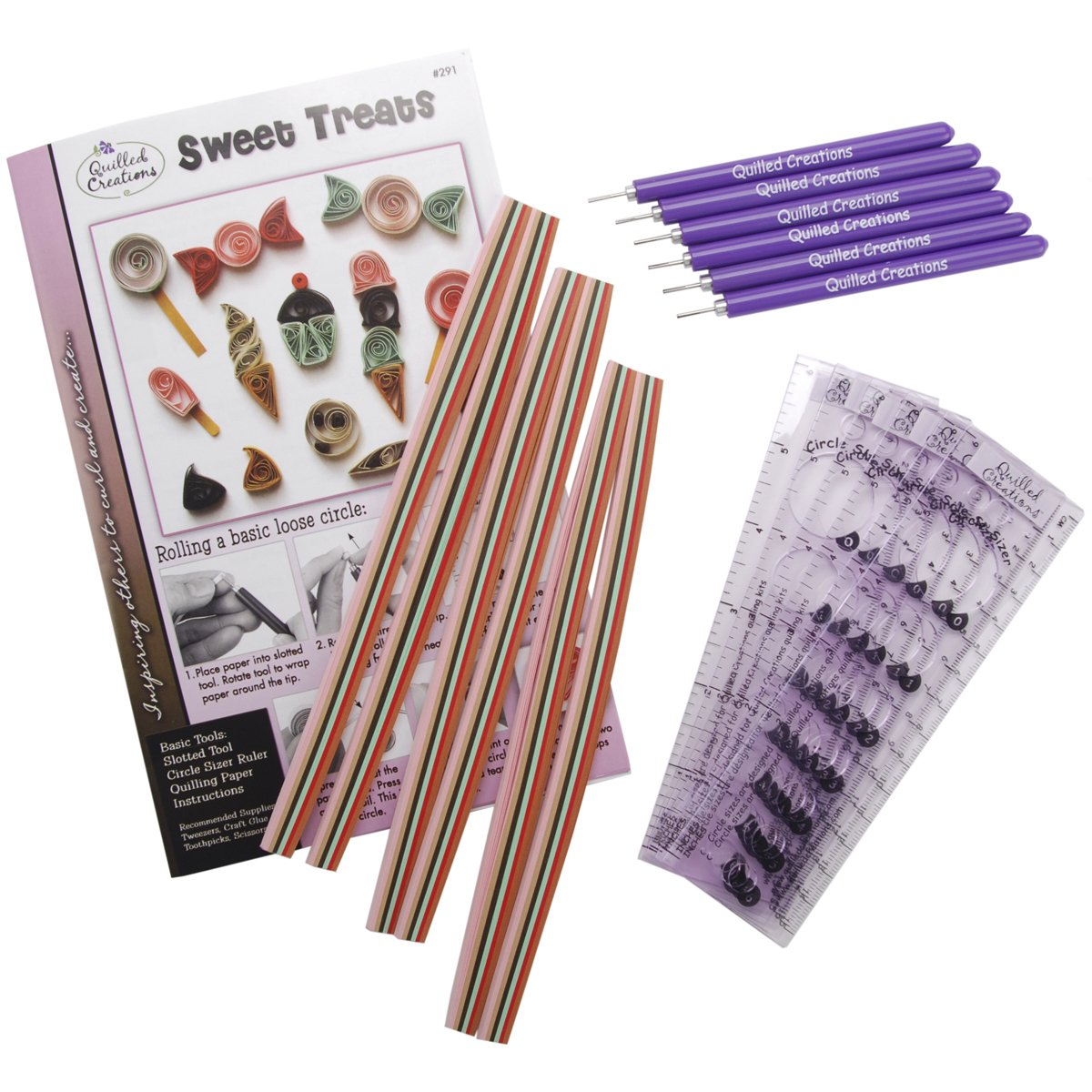 Quilled Creations Quilling Class Pack Kit, Sweet Treats
