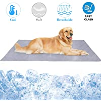 Pet Cooling Mat,Muswanna Reversible Foldable 31.5'' X 43.3'' Extra Large Dog Cooling Blanket Self Cooling Pad for Dogs and Cats,Washable Dog Kennel Pad-Keeps Pet Cool in Summer,Pet Travel Cool Cushion for Home,Kennel,Car Seats,Sofa and Crates