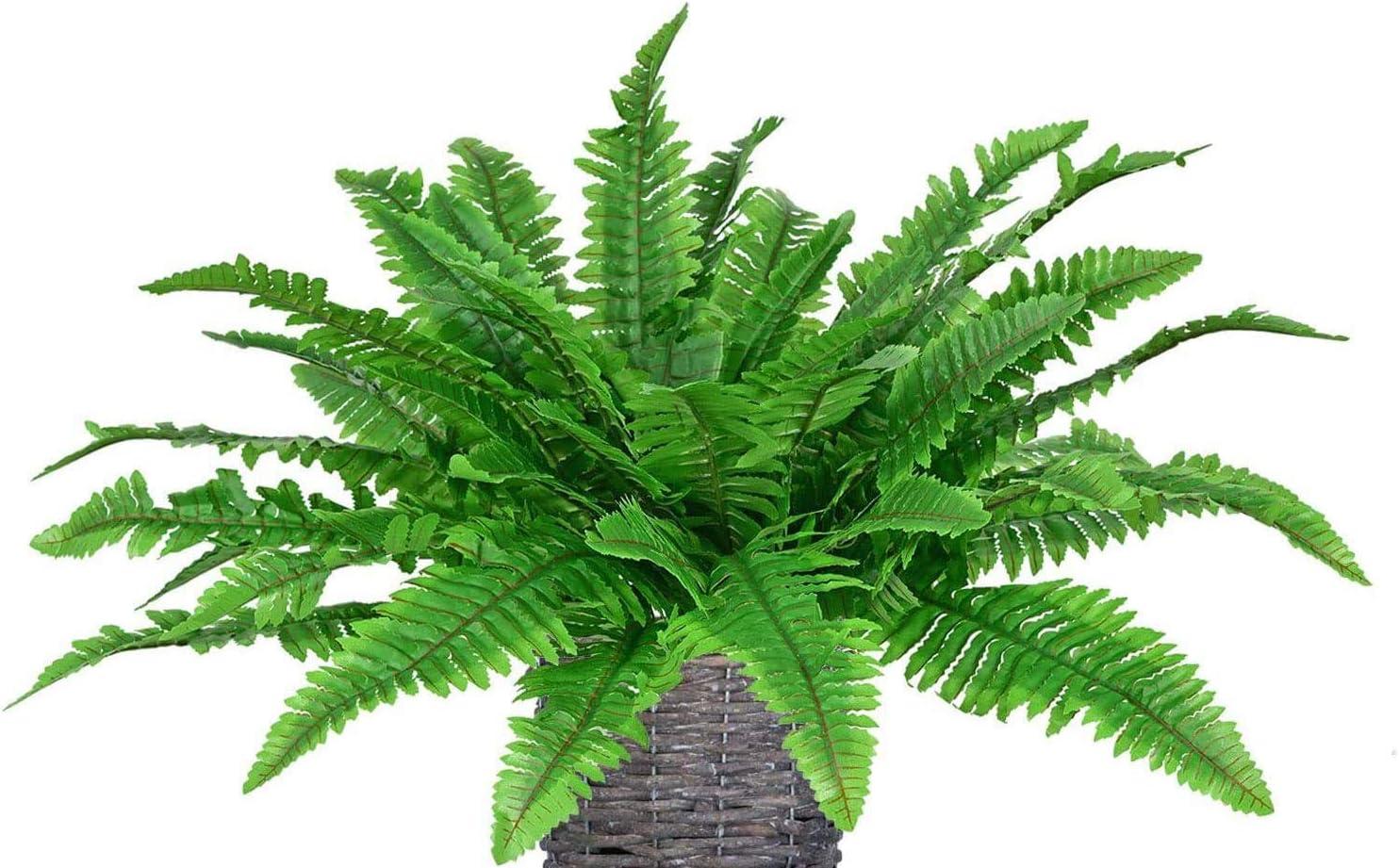Large Artificial Boston Fern Leaf Fake Plant Bush Leave Foliage Outdoor Decor