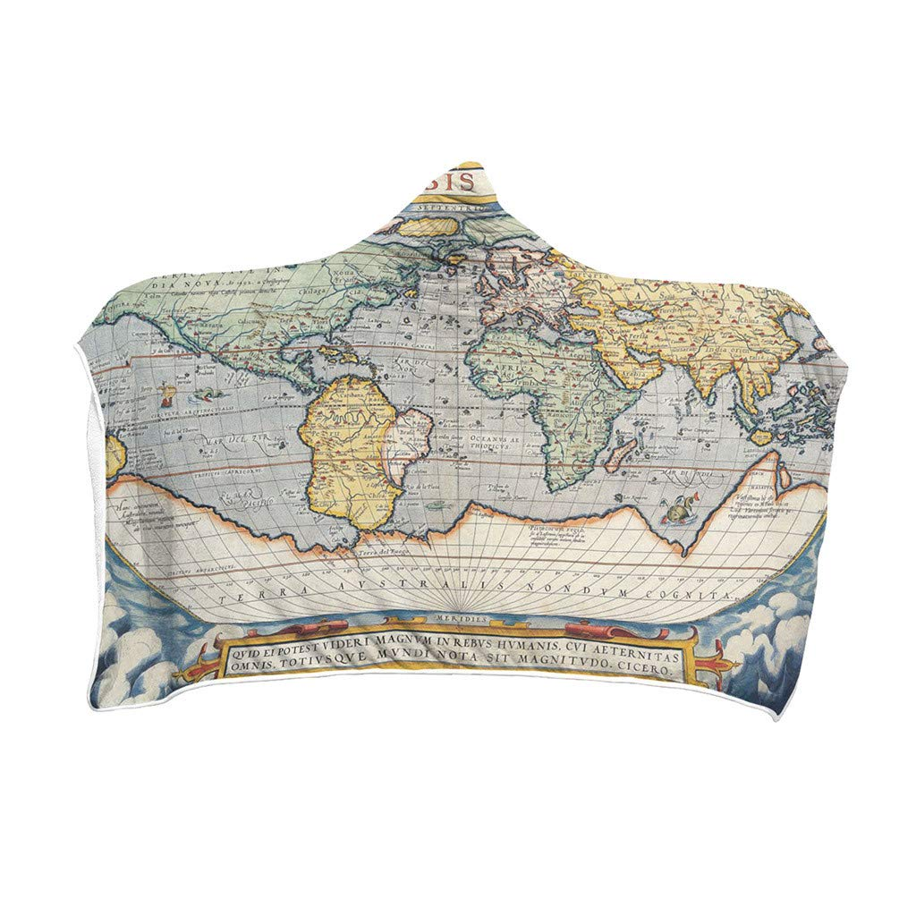 OWMEOT Constellation Map Series Plush Hooded Blanket Lichens Hooded Blanket 59 x 78.7 inches