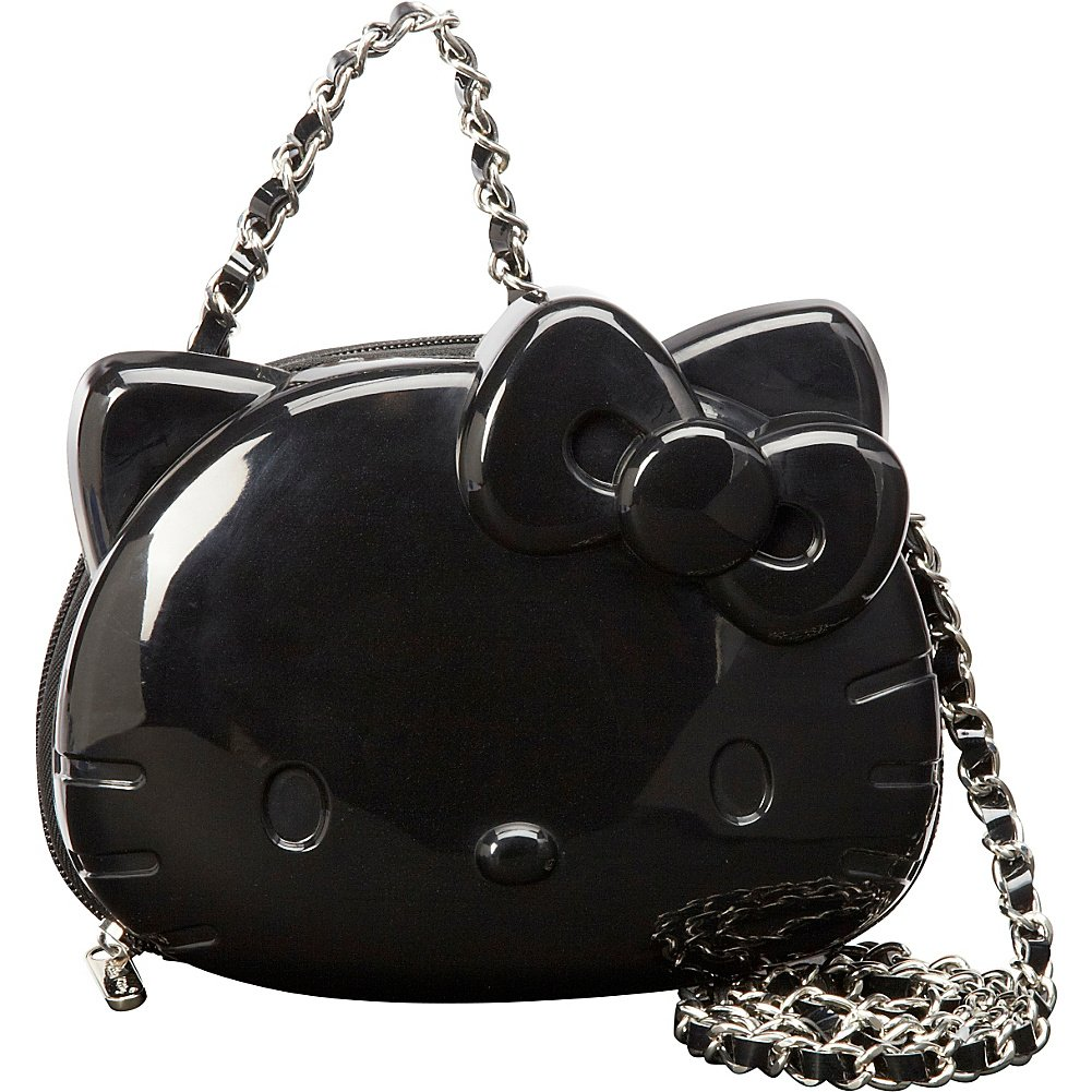 a19952968c Loungefly Hello Kitty 3D Moulded Silicon Chain Cross Body Bag (Black)   Amazon.co.uk  Toys   Games