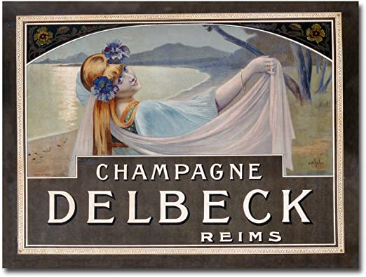 Amazon Com Champagne Delbeck 1910 By Louis Chalon 26x32 Inch Canvas Wall Art Prints Posters Prints