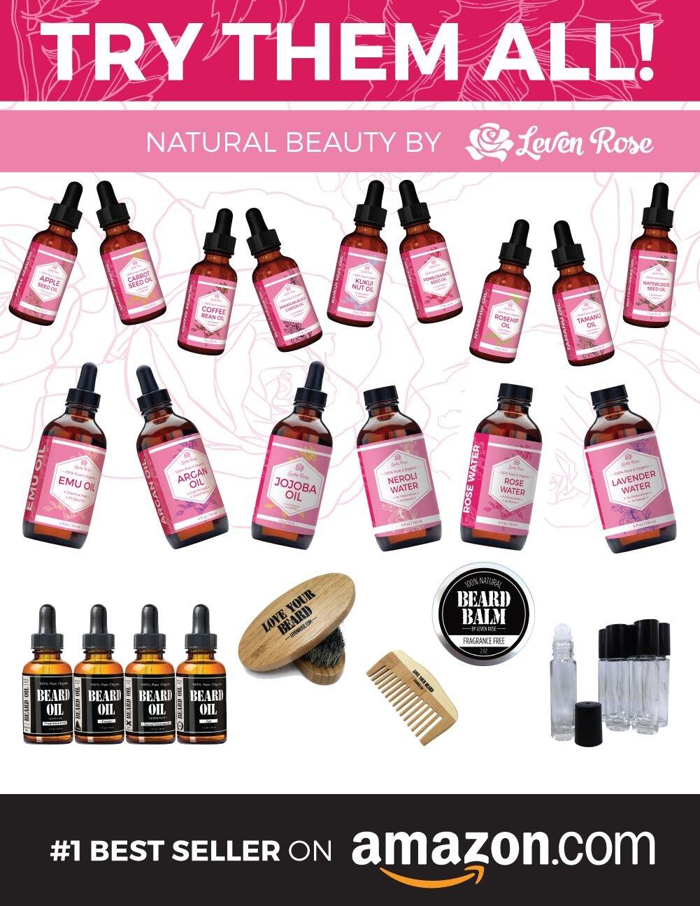 Amazon.com: Moringa Oil by Leven Rose, Pure, Organic, Cold Pressed ...