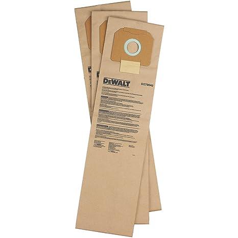 Amazon.com: DeWalt d279042 Bolsa de filtro de papel para ...