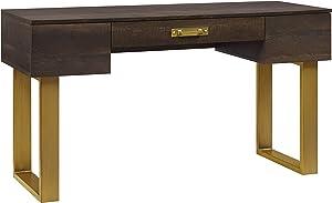 Better Homes & Gardens Lana Modern 3-Drawer Writing Desk, Toasted Brown Ash Finish
