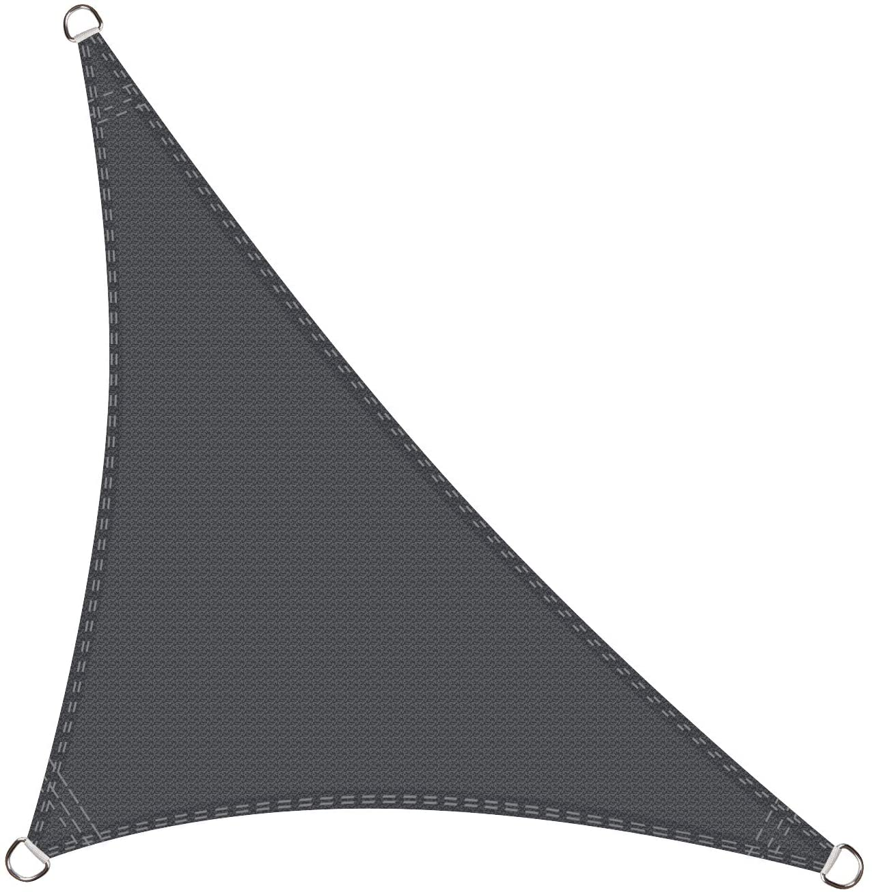 Cool Area Toldo Vela de Sombra triángulo rectángulo 5 x 5 x 7, 1 ...