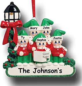 Amazon.com: Rudolph and Me Personalized Family of 5 ...