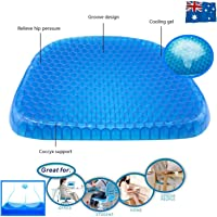 Gel Honeycomb Seat Comfort Cushion Flex Back Support Spine Protector (1)