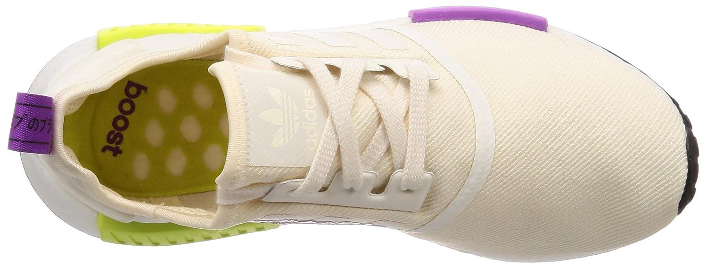 Adidas Herren NMD_r1 Derbys, Bianco, Weiß/Semi Eu Beige (Chalk Weiß/Chalk Weiß/Semi Bianco, Solar Yellow) 263aee