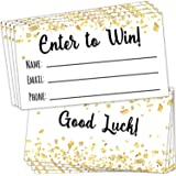"200 Raffle Tickets 3.5""x2"" - Enter to Win Entry Form Cards for Giveaway Contest, Raffles, Ballot Box, 50/50, Auction and More"