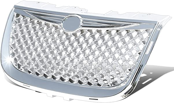 For Chrysler 300M Diamond Mesh Front Bumper Grille//Grill Chrome
