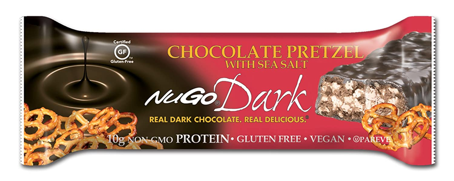 Amazon.com: NuGo Dark Chocolate Pretzel, 1.76-Ounce (Pack of 12 ...