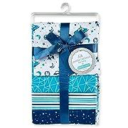 Cribmates 4-Piece Flannel Receiving Blankets