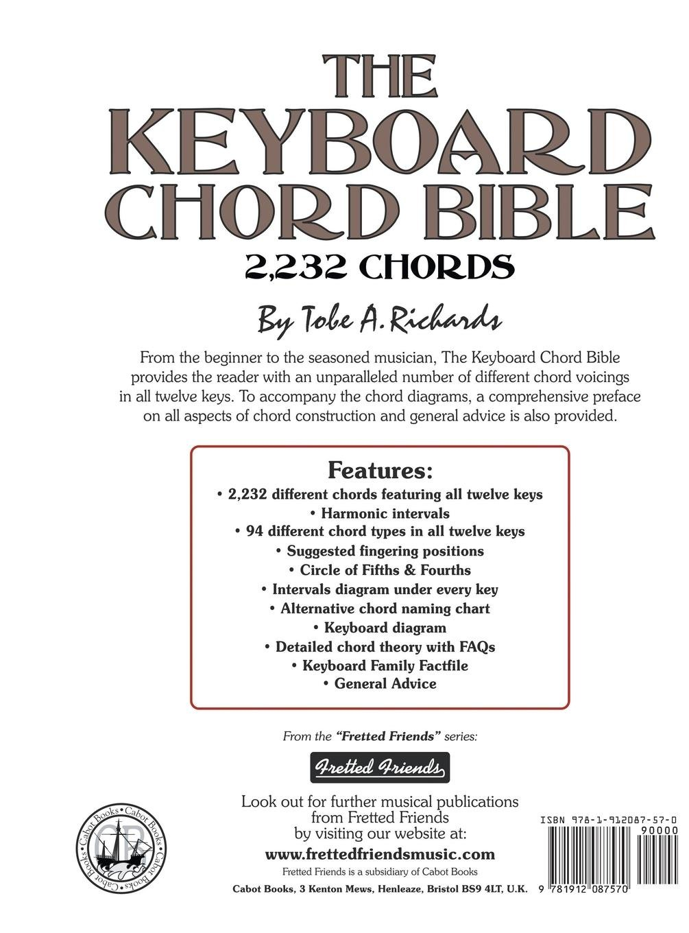 The Keyboard Chord Bible: 2,232 Chords Fretted Friends Series ...