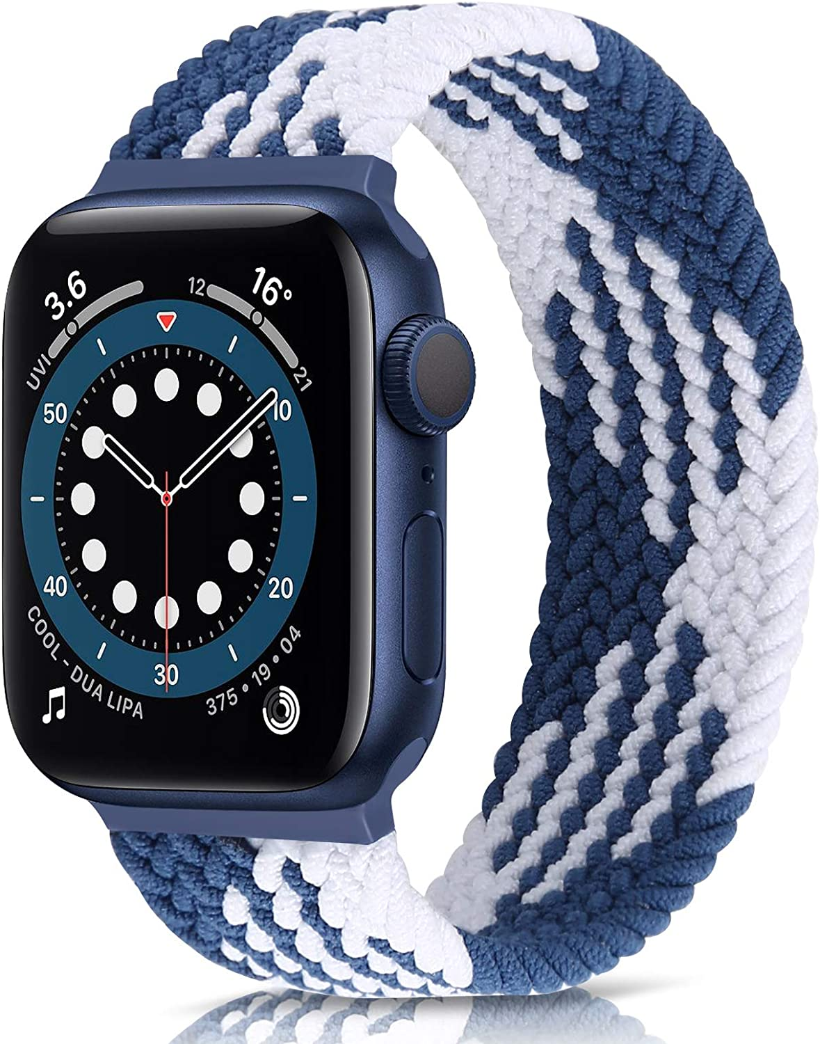 AVOD Braided Solo Loop Watch Band Compatible for Apple Watch SE Series 6 Straps 44mm 42mm 40mm 38mm Elastic Nylon Straps for iWatch 6/SE/5/4/3/2/1
