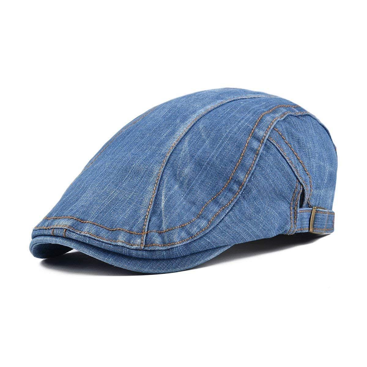 BoBoLily Denim Jeans para Hombre Vendedor De Peri/ódicos Boina Cabbie Pato Hebilla De Cap Especial Estilo Hombre Beret Cap Invierno Vintage Color S/ólido Exterior