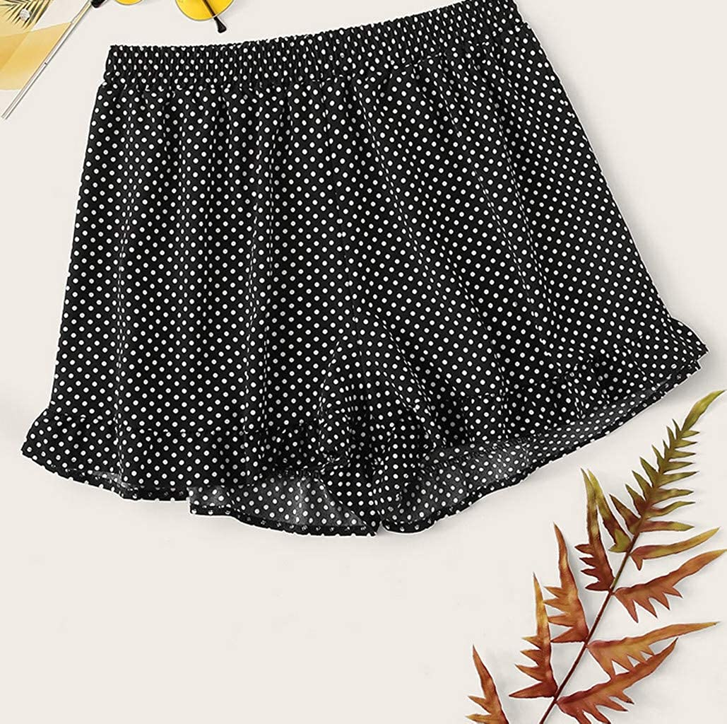 Amazon.com: OrchidAmor Polka Dot Shorts Skort Beige Blush Black Summer Spot Holiday Pockets: Clothing
