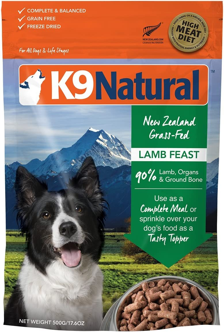 K9 Natural Freeze Dried Dog Food Or Topper Perfect Grain Free, Healthy, Hypoallergenic Limited Ingredients Booster for All Dog Types – Raw, Freeze Dried Mixer