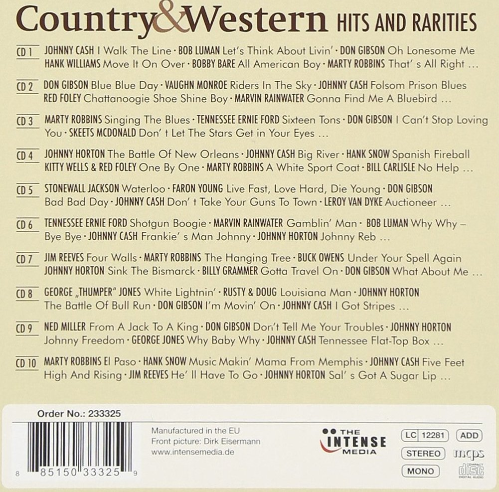 200 Hits and Rarities of Country & Western: Bobby Bare, Johnny Cash, Don Gibson, Jim Reeves, Marty Robbins, Johnny Horton, amo! by Imports