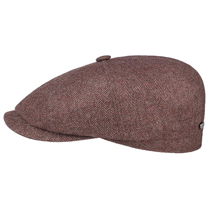 low price sale shoes for cheap quite nice Stetson Hatteras Cashmere Silk Flat Cap Men - Made in Germany Pull on hat  Virgin Wool with Peak, Lining, Lining Summer-Winter