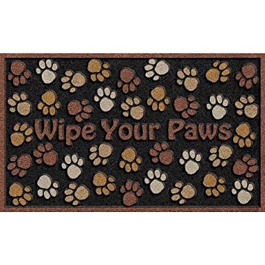 Apache Mills 60-925-0894-18x30 18X30 Wipe Paws Door Mat, 18 X 30-Inch, Brown Multi