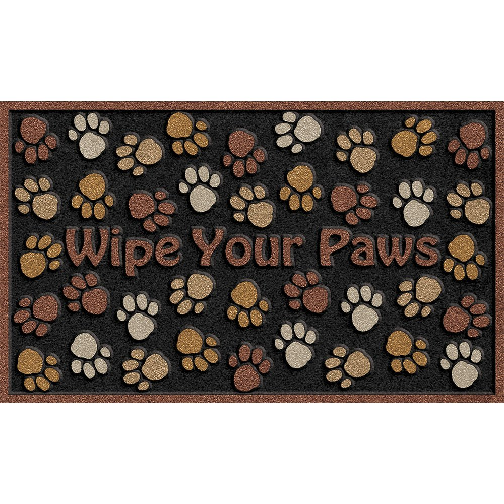 Apache Mills 60-925-0894-18x30 CleanScrape Deluxe Wipe Your Paws Door Mat, Brown, 18-Inch by 30-Inch by Apache Mills