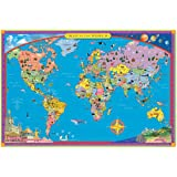 Amazoncom Eeboo Picture Map of the World and United States Home