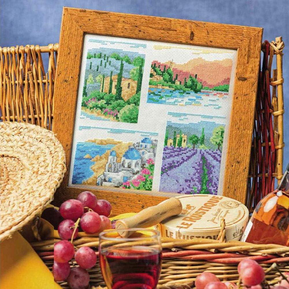 4 Pieces 30 /×30 cm and 3 Pieces 20 x 20cm for Embroidery Including 3 Pieces 30 /× 45 cm MAMUNU 10 Pieces Reserve Aida Cloth 14 Count White Cross Stitch Fabric