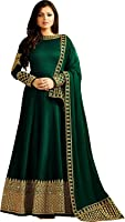 Khileshwai Fashion Green Bangalory Silk Embroidered Anarkali Suit for women