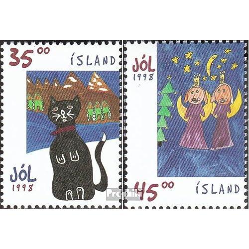 Islande 900-901 (complète.Edition.) 1998 Noël: dessins d\u0026#39;enfants (Timbres pour les collectionneurs)