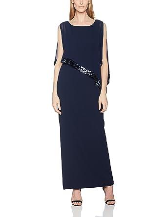 Womens Sequin Trim Crepe and Chiffon Dress Gina Bacconi szSJr5s