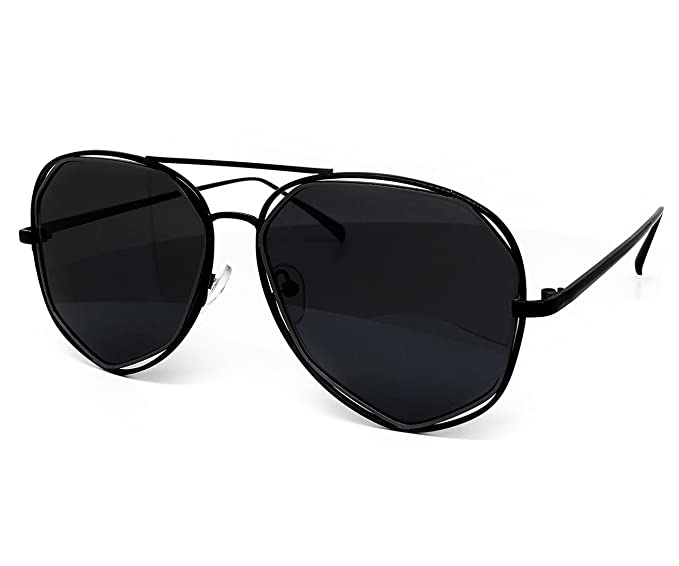 d3b1a5d69b05e O2 Eyewear 6554 Premium Retro Womens Mens Mirror Funky Fashion Geometric  Revo Candy Flat Top Aviator