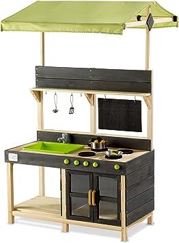 Exit Yummy 300 Wooden Outdoor Kitchen Naturel Amazon De Toys Games