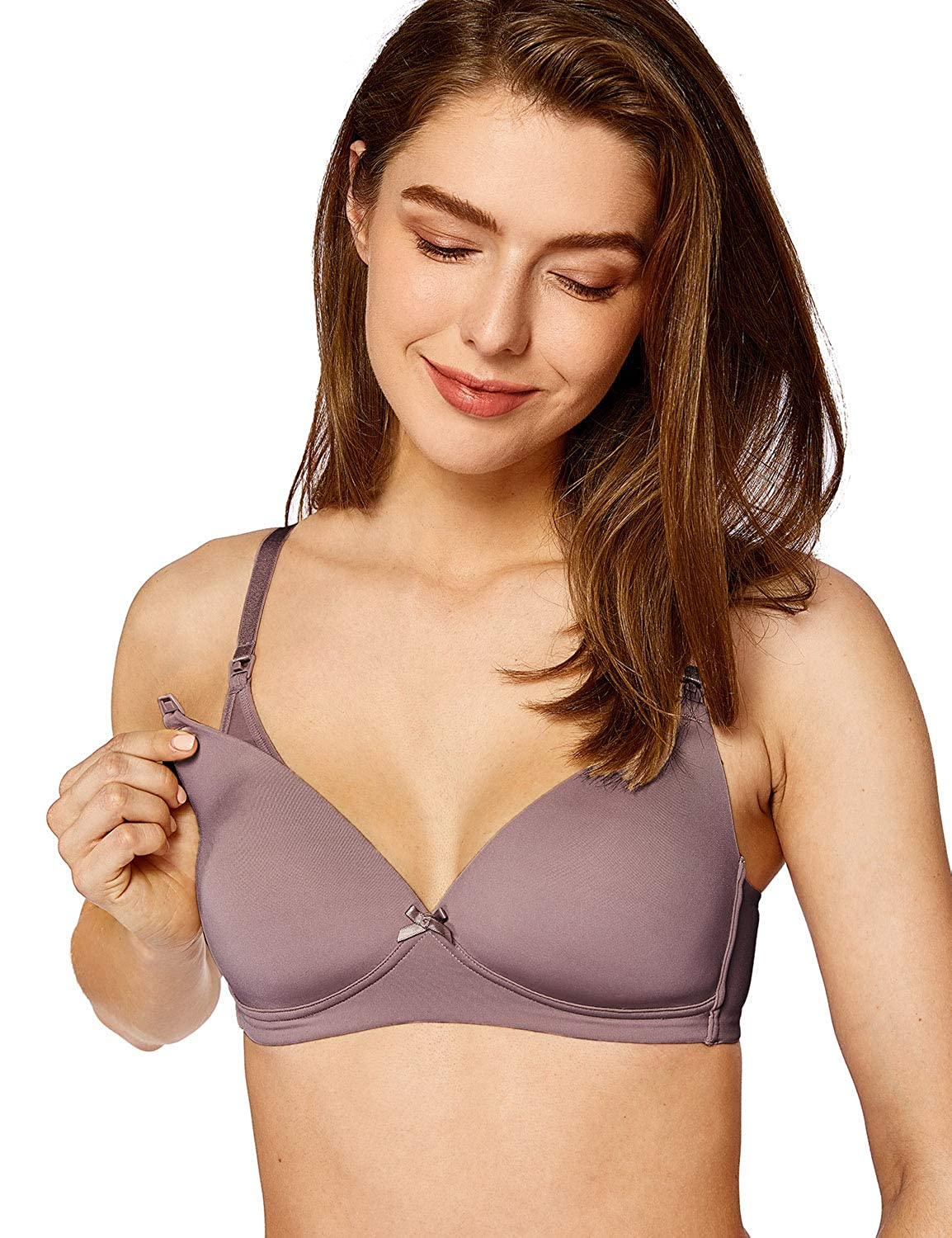 MOMANDA Women's Basic Lightly Padded Wirefree Maternity Nursing Bra