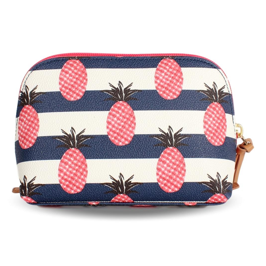 eeaf19802ad Amazon.com  Tory Burch Pineapple Stripe Small Kerrington Cosmetic Case   Beauty