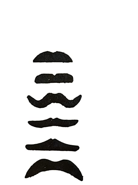 Mario Mexican Disco Fancy Dress Black Fake Moustache 118