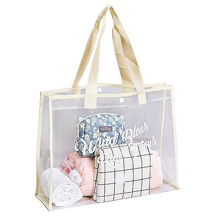 84864bfbc5 Women Clear Shopping Bag Transparent PVC Beach Handbag Youth Girls Tote  Shoulder Bag Beach Candy Waterproof