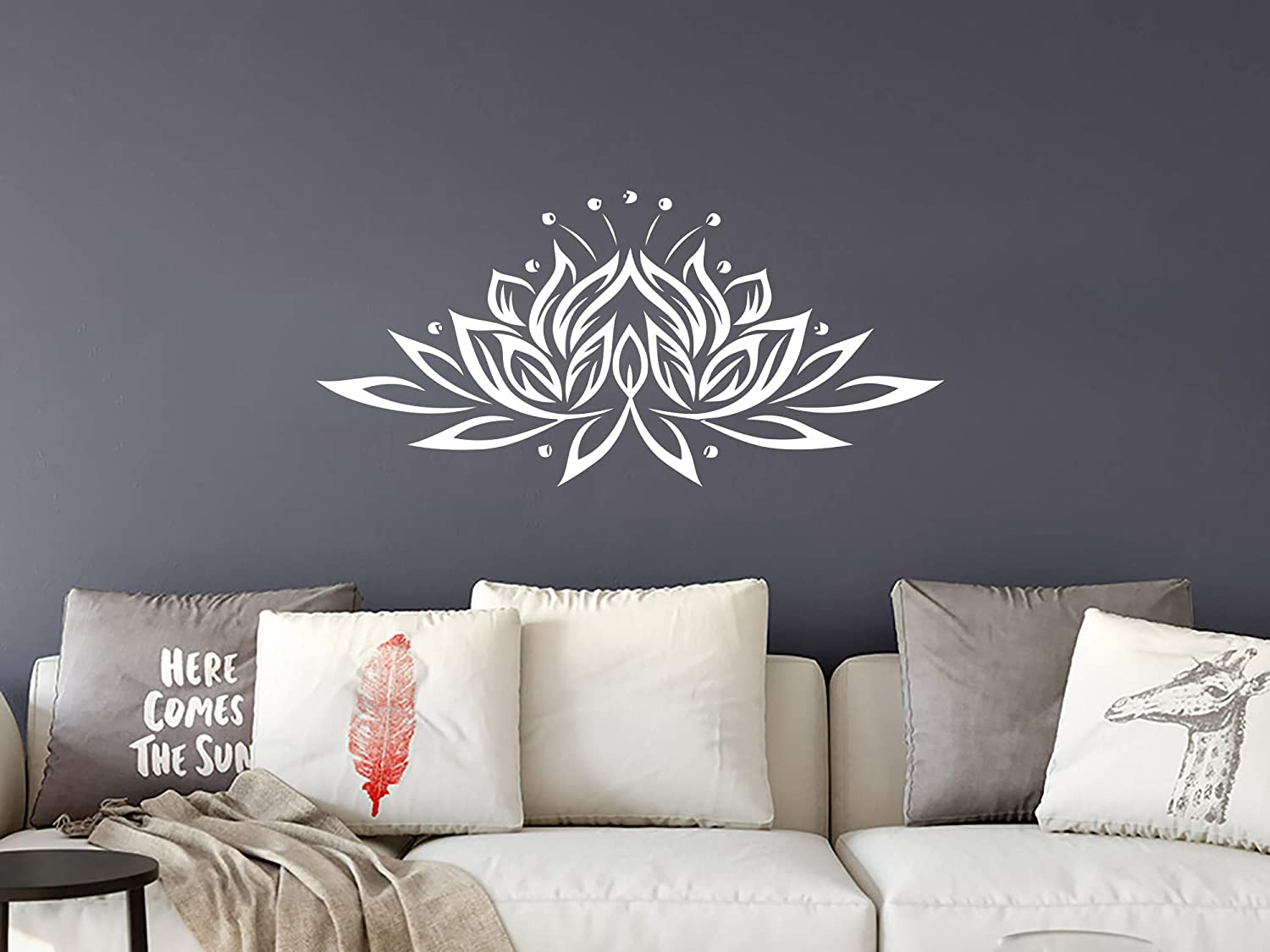 Wall decal vinyl sticker decals mandala namaste lotus flower indian lotus yoga wall stickers home decor art bedroom design interior wall decor mural c359