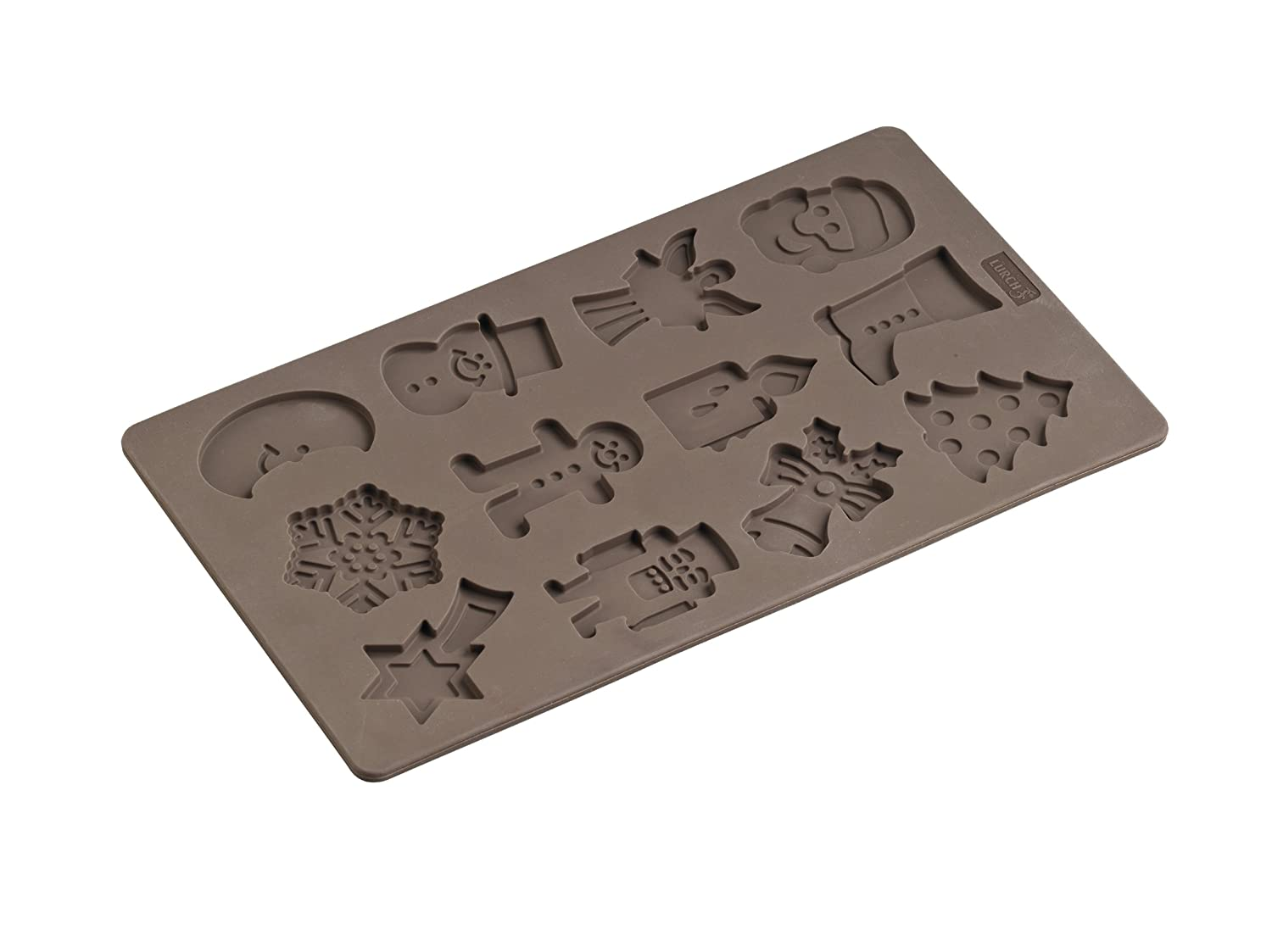 Lurch FlexiForm Winterzeit (Winter Time) 65021 Biscuit Tray with Moulds 17 x 30 cm Brown Lurch AG