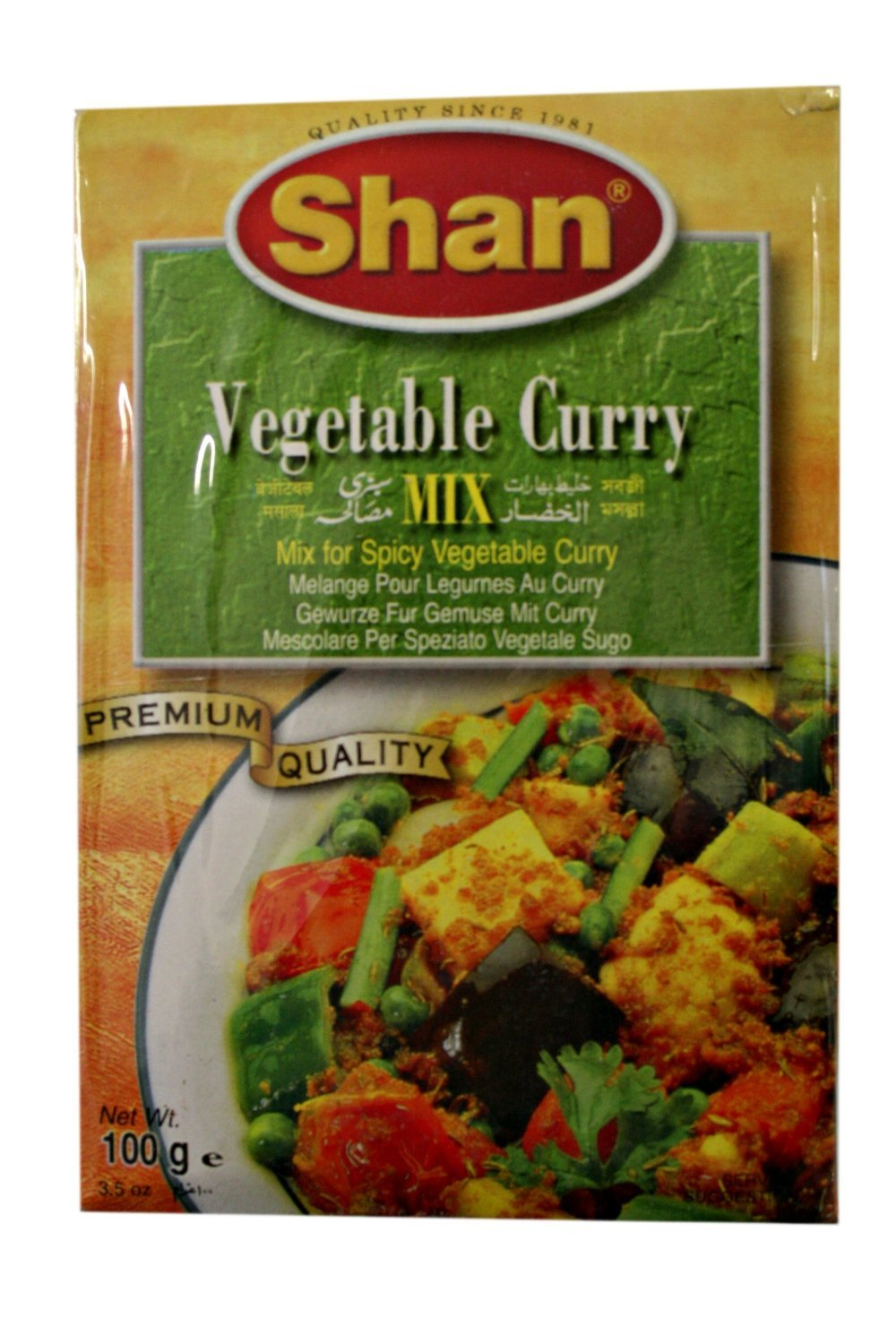 Shan Vegetable Curry Mix (Masala) 100g (Pack of 12)