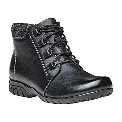 d112815617 Propet Women's Delaney Boot Black Leather 6 N (AA) & Oxy Cleaner Bundle