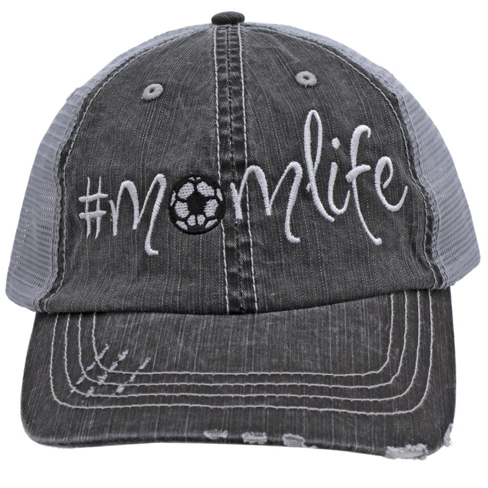 Soccer #Momlife Women Embroidered Trucker Style Cap Hat Rocks any Outfit