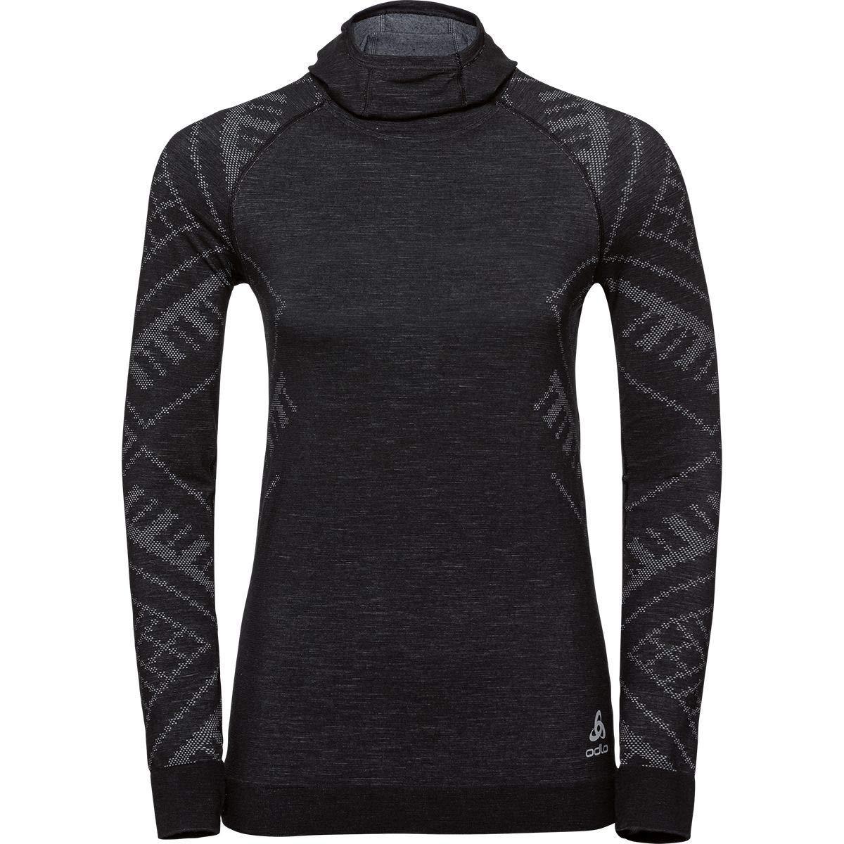 Kinship Warm Shirt ODLO Womens Suw Top with Facemask L//S Natural Womens 110701