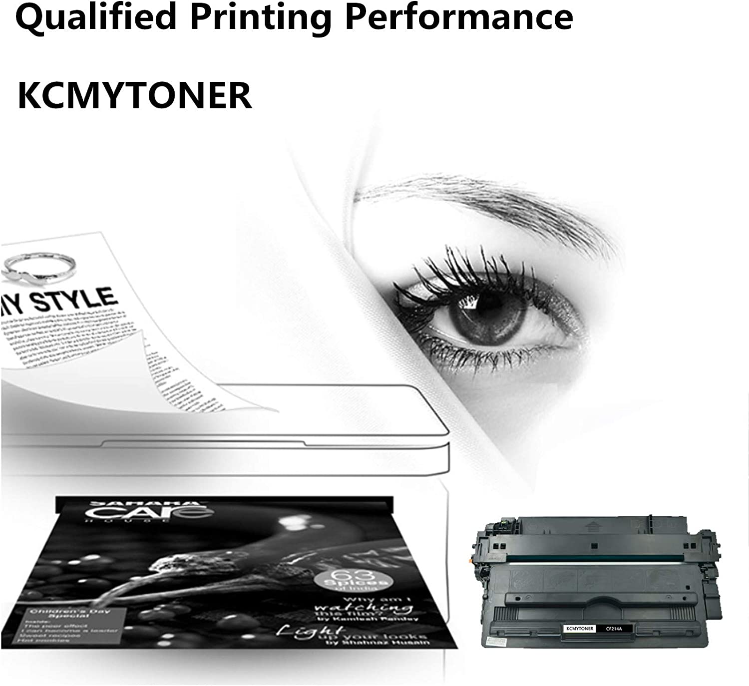 Black 1 Pack KCMYTONER Compatible Toner Cartridge Replacement for HP 14A CF214A Work with Laserjet Enterprise 700 M712 M725 M712dn M725X Series Printer