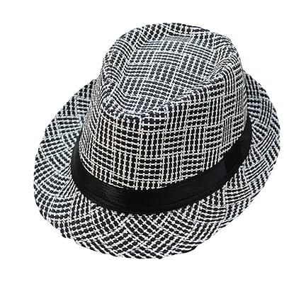 e11ec4537fe Amazon.com  Unisex Genuine Panama Bogart Fedora Straw Dress Hat for ...