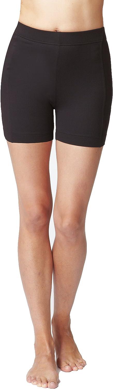 TLC Sport Womens Classic Waisted Micron Shorts Black