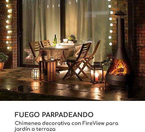 blumfeldt Hidalgo Chimenea de jardín - Estufa, 2 en 1: Cuenco de Fuego y Parrilla, Cuenco de Fuego: Ø 55 cm, póquer, Caja de Cenizas y Pala, FireView, incluida la Parrilla: Ø