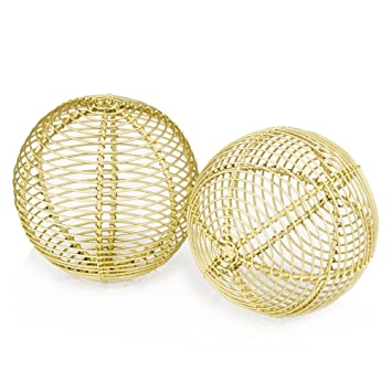 Amazon.com: Modern Day Accents 5065 Bola Parrilla Gold ...