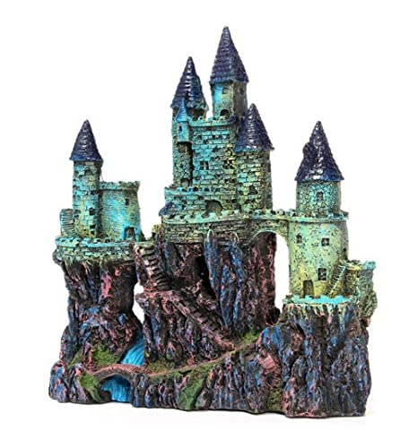 WYXIN Acuario decorativo resina tanque de agua paisajismo decoración gran castillo artesanías de resina