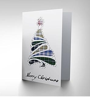 Scottish sayings phrases scots fun scotland blank greetings card card christmas xmas merry tartan design tree scottish gift cp2378 m4hsunfo